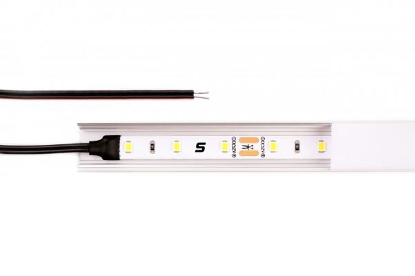 Complete set: LED strips with aluminium profile