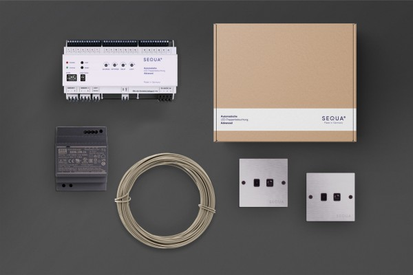 Control unit Advanced - Complete set for automatic LED staircase lighting